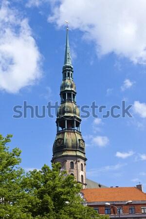 教会 リガ 旧市街 ラトビア 像 ストックフォト © chrisdorney