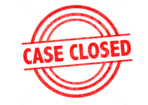 CASE CLOSED Rubber Stamp Stock photo © chrisdorney