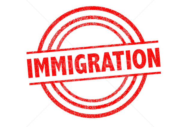 IMMIGRATION Rubber Stamp Stock photo © chrisdorney