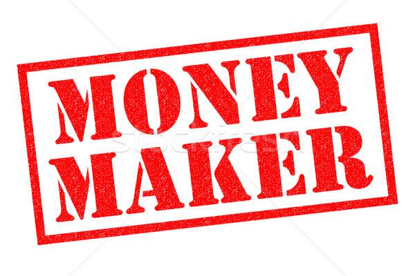 Stockfoto: Geld · Rood · witte · business · teken