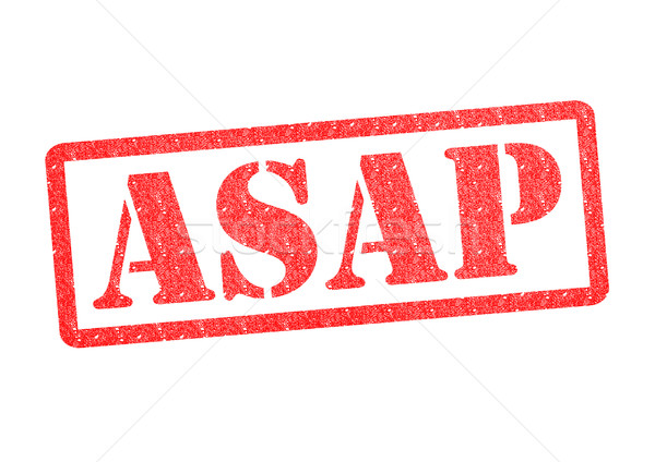 ASAP Rubber Stamp Stock photo © chrisdorney
