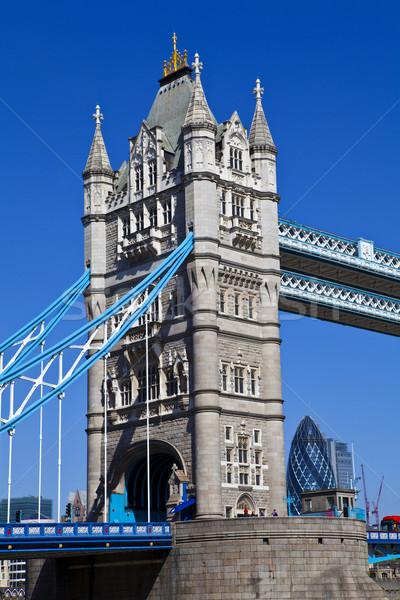 Tower Bridge Londres ciudad puente arquitectura Foto stock © chrisdorney