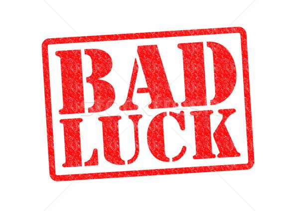 Slechte geluk witte Rood gokken Stockfoto © chrisdorney