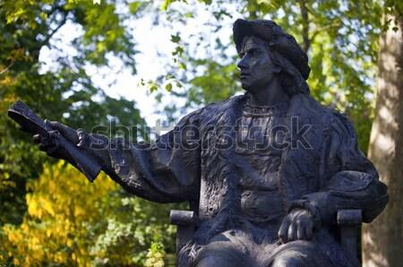 Standbeeld Londen beroemd acteur spelen buiten Stockfoto © chrisdorney