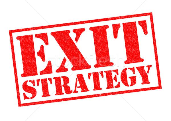 EXIT STRATEGY Stock photo © chrisdorney