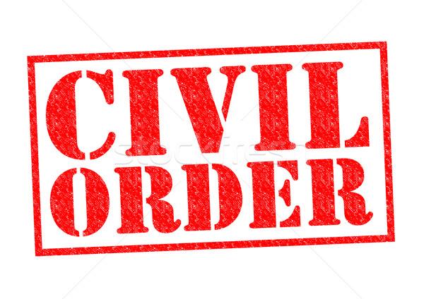 Civile ordre rouge blanche droit Photo stock © chrisdorney