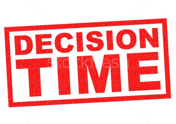 DECISION TIME Stock photo © chrisdorney