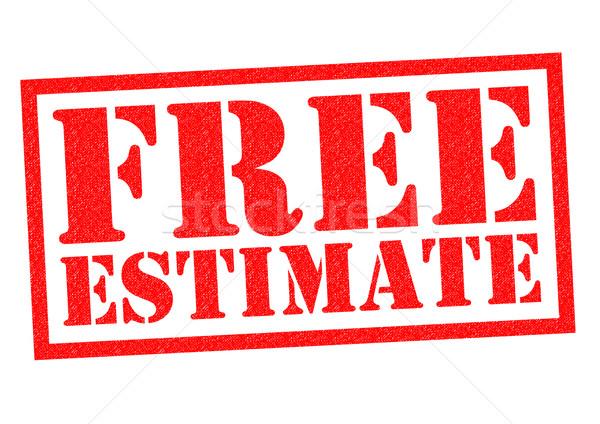 Libre estimar rojo blanco negocios Foto stock © chrisdorney