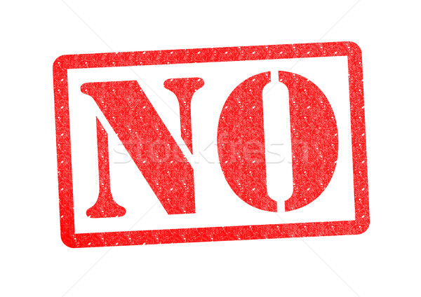 NO rubber stamp over a white background. Stock photo © chrisdorney