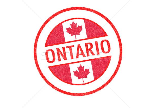 Ontario pecsét fehér zászló vakáció gomb Stock fotó © chrisdorney