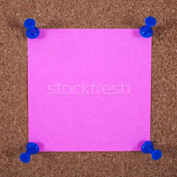 Sticky Page Pinned to a Noticeboard Stock photo © chrisdorney