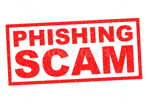 Phishing arnaque rouge blanche ordinateur Photo stock © chrisdorney