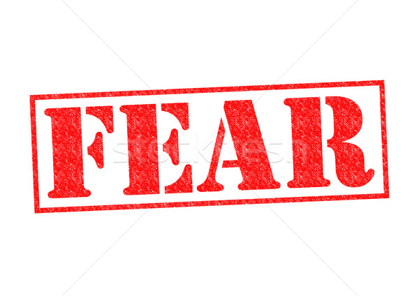 FEAR Rubber Stamp Stock photo © chrisdorney