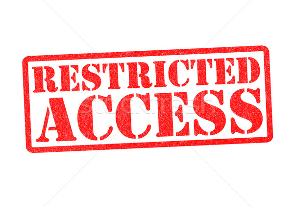 RESTRICTED ACCESS Stock photo © chrisdorney