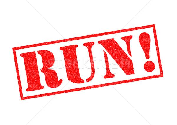 RUN! Rubber Stamp Stock photo © chrisdorney