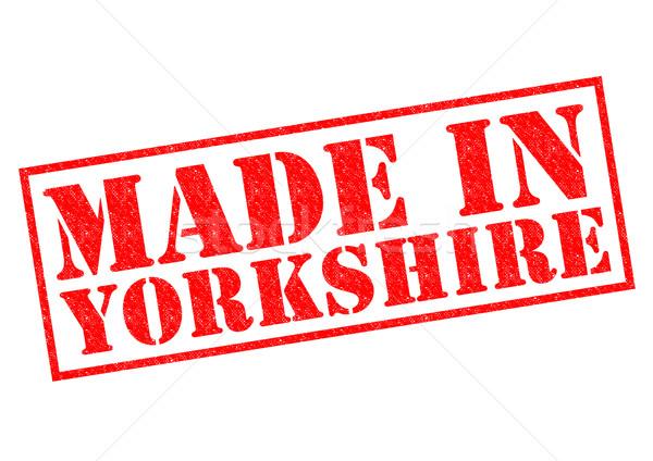 Yorkshire Rood witte bouwen label Stockfoto © chrisdorney