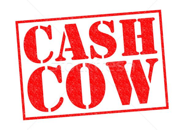 Numerário vaca vermelho branco negócio Foto stock © chrisdorney