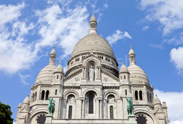 Párizs gyönyörű Franciaország kék ég vallás vallásos Stock fotó © chrisdorney