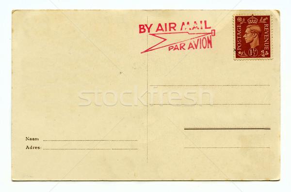 Vintage postal fondo viaje escrito carta Foto stock © chrisdorney