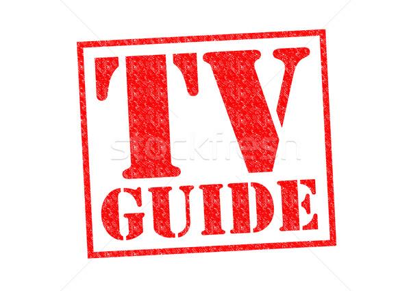 Tv guidare rosso bianco televisione Foto d'archivio © chrisdorney