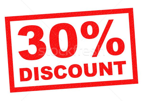 30% DISCOUNT Stock photo © chrisdorney