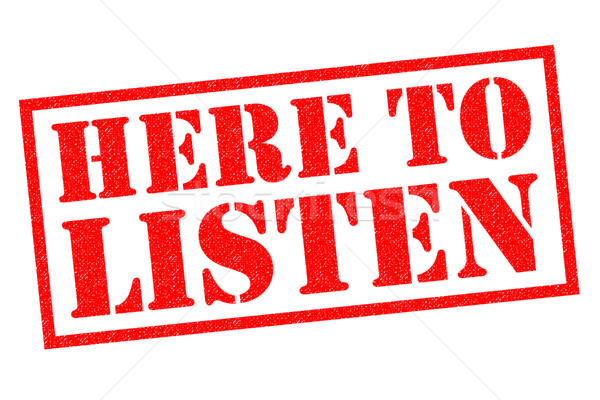Stock photo: HERE TO LISTEN
