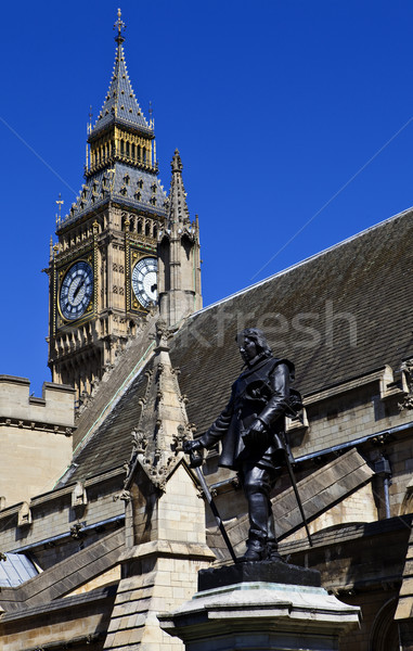 Oliver Cromwell Statue outside the Houses of Parliament Stock photo © chrisdorney