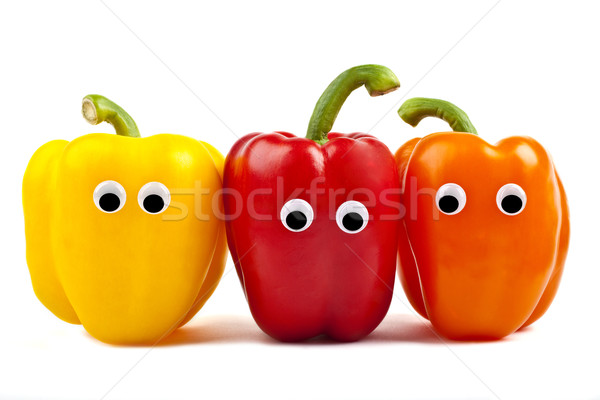 Bell Pepper Characters Stock photo © chrisdorney