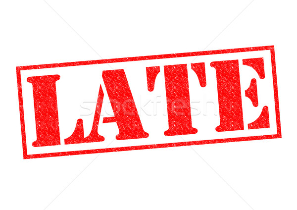 Stock photo: LATE Rubber Stamp