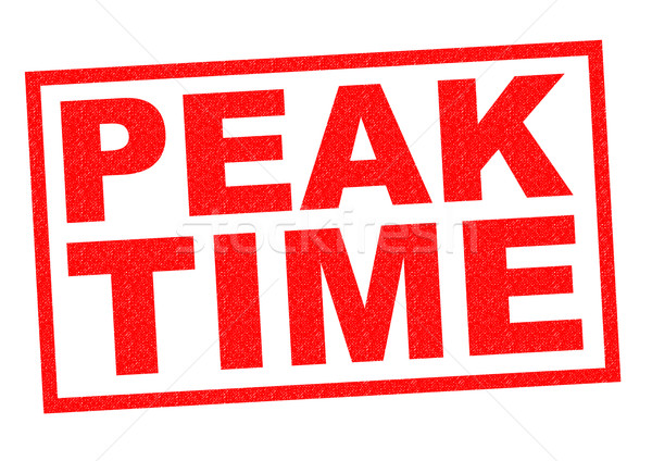 PEAK TIME Stock photo © chrisdorney