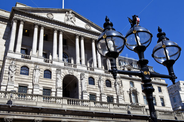 Bank Engeland Londen straat architectuur financiële Stockfoto © chrisdorney