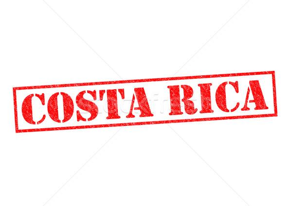 Costa Rica pecsét fehér vakáció gomb kultúra Stock fotó © chrisdorney