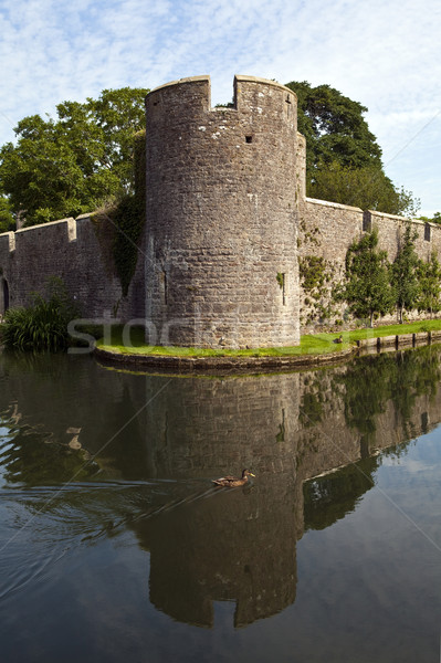 Bishop's Palace and Moat in Wells Stock photo © chrisdorney