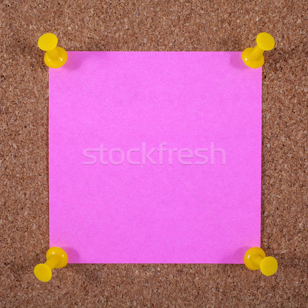 A Note Page Pinned to a Noticeboard Stock photo © chrisdorney