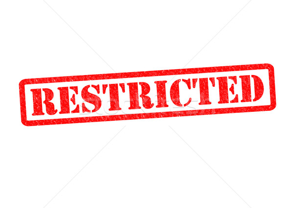 RESTRICTED Stock photo © chrisdorney