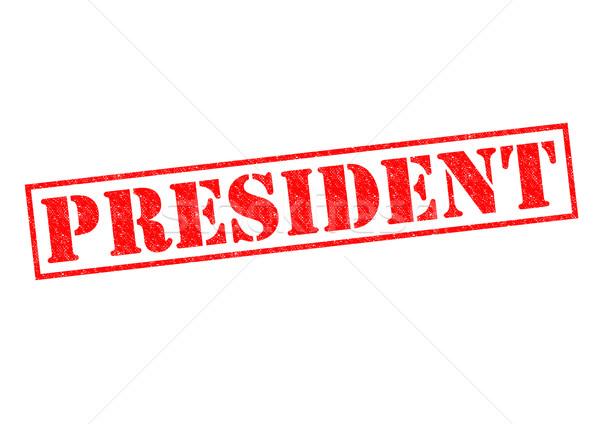 Başkan kırmızı beyaz patron kültür Stok fotoğraf © chrisdorney