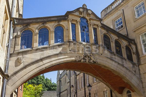 Híd Oxford kilátás város Anglia építészet Stock fotó © chrisdorney
