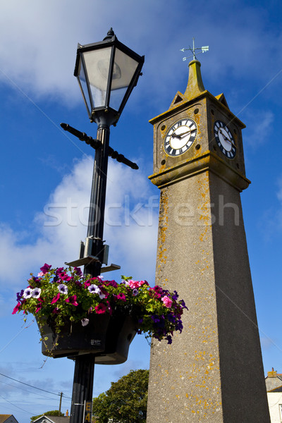 Horloge tour cornwall Voyage ouest vacances Photo stock © chrisdorney
