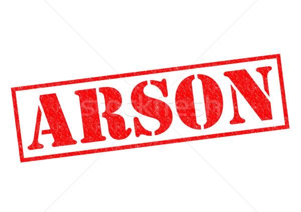 ARSON Rubber Stamp Stock photo © chrisdorney