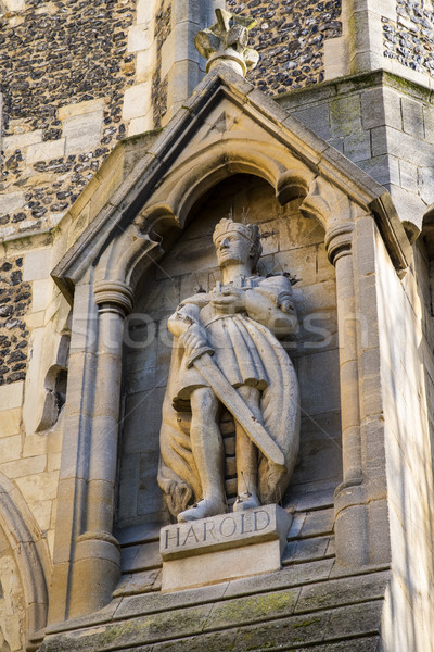 Harold Statue at Waltham Abbey Church Stock photo © chrisdorney