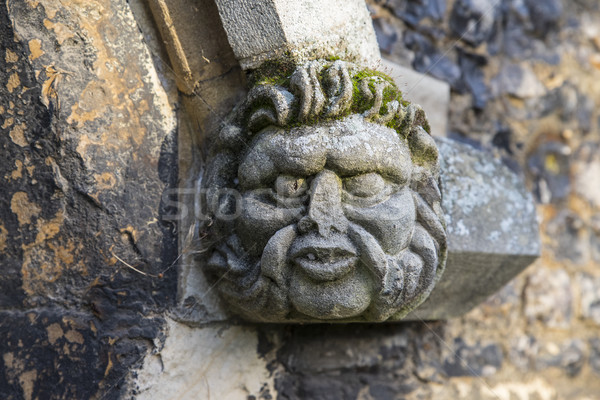 Gargoyle on Waltham Abbey Church Stock photo © chrisdorney
