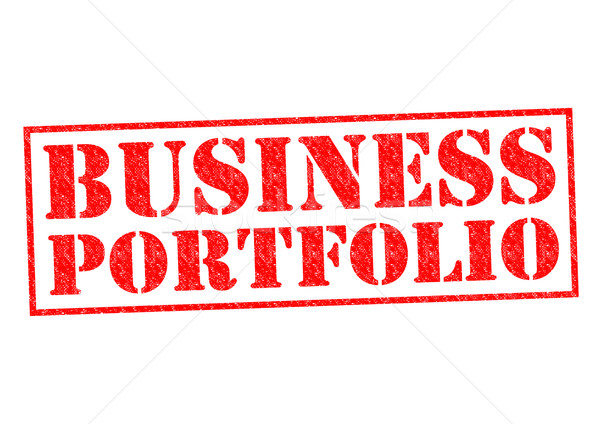 Business Portfolio rot weiß Immobilien Stock foto © chrisdorney
