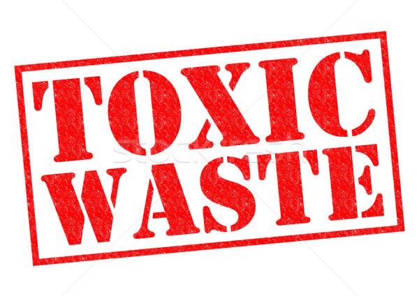Tóxico residuos rojo blanco contaminación Foto stock © chrisdorney