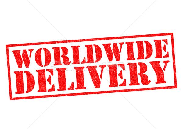 In tutto il mondo consegna rosso bianco mare Foto d'archivio © chrisdorney