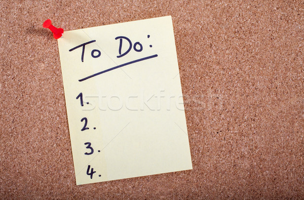 Para fazer a lista trabalhar compras trabalhando comunicação trabalho Foto stock © chrisdorney