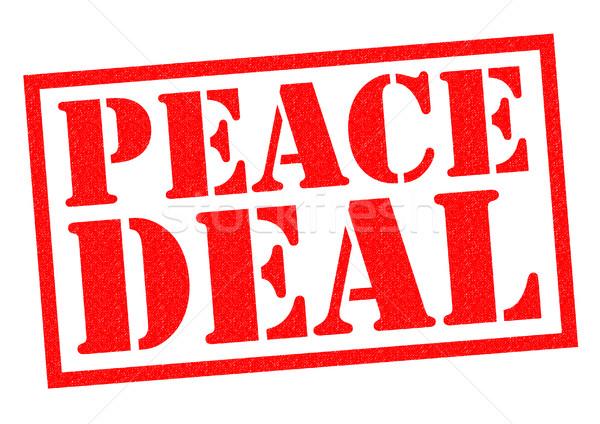 PEACE DEAL Stock photo © chrisdorney