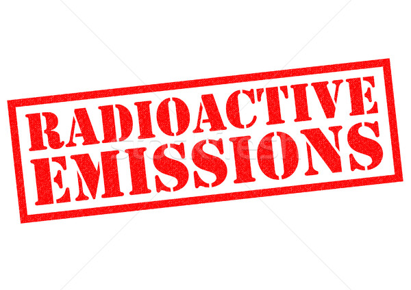 Radyoaktif kırmızı beyaz çevre etiket Stok fotoğraf © chrisdorney