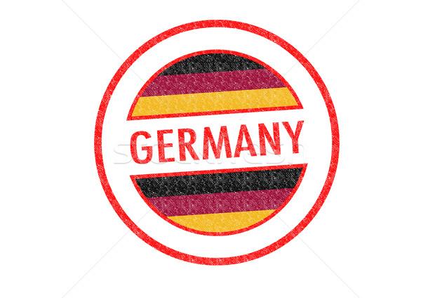 Stockfoto: Duitsland · witte · vlag · vakantie · knop