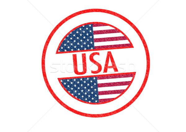 США белый отпуск кнопки паспорта Сток-фото © chrisdorney