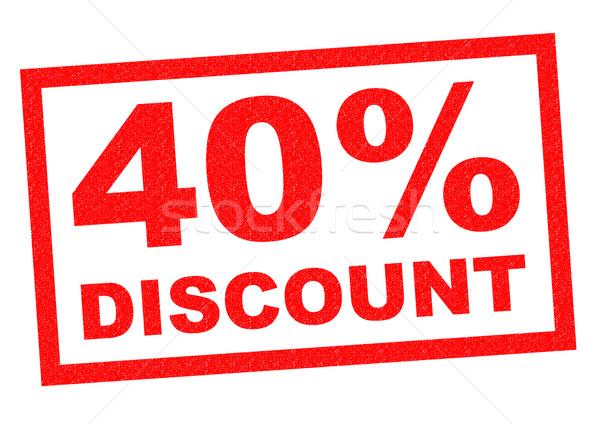 40% DISCOUNT Stock photo © chrisdorney